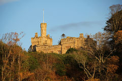 Castillo Largs Escocia del golpe imagen de archivo libre de regalías