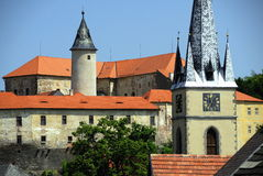 Castillo Ledec nad Sazavou Fotos de archivo libres de regalías