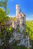 Castillo Lichtenstein, Alemania fotografía de archivo libre de regalías