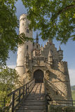 Castillo Lichtenstein con la puerta y el puente levadizo de la entrada Fotografía de archivo libre de regalías