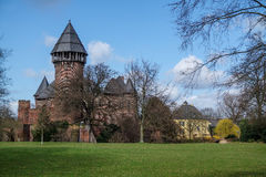 Castillo Linn - Krefeld - Alemania Foto de archivo