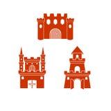 Castillo Logo Template stock de ilustración