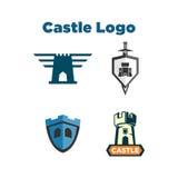 Castillo Logo Template ilustración del vector