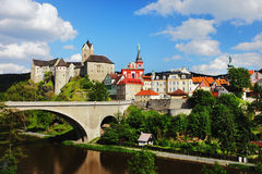 Castillo Loket, República Checa Imagenes de archivo