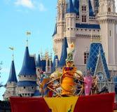 Castillo mágico del desfile del reino Imagenes de archivo