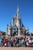 Castillo mágico del reino de Disneyworld fotografía de archivo libre de regalías