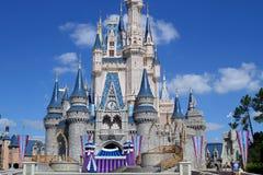 Castillo mágico la Florida de Disney medio Fotografía de archivo libre de regalías