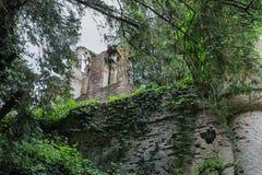 Castillo medieval arruinado en el chalet Sorra Imagen de archivo