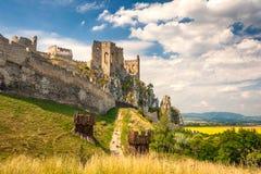 Castillo medieval Beckov, Eslovaquia imagen de archivo