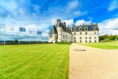 Castillo medieval de Amboise del castillo francés, tumba de Leonardo Da Vinci. El valle del Loira, Francia Imagen de archivo libre de regalías