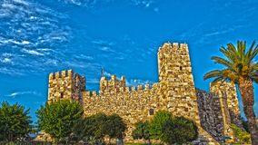 Castillo medieval de Candarli en HDR Foto de archivo libre de regalías
