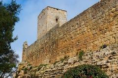 Castillo medieval de Castello di Lombardia en Enna, Sic Fotos de archivo