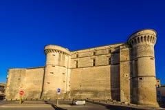 Castillo medieval de Gordes, Francia Imagen de archivo