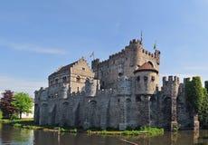 Castillo medieval de Gravensteen en señor Imagenes de archivo