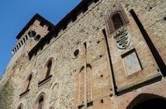 Castillo medieval de Grazzano Visconti Fotos de archivo