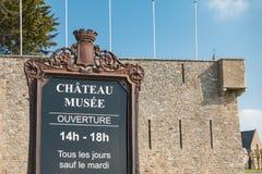 Castillo medieval de Noirmoutier en Francia Imágenes de archivo libres de regalías