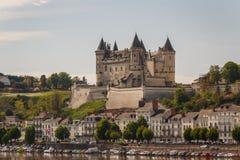 Castillo medieval de Saumur imagen de archivo libre de regalías