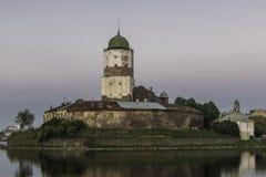 Castillo medieval de Vyborg Foto de archivo