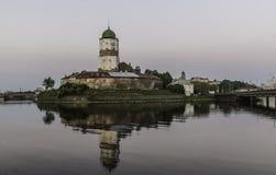 Castillo medieval de Vyborg Imágenes de archivo libres de regalías