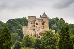 Castillo medieval en Bedzin Fotografía de archivo