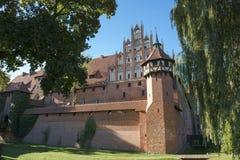 Castillo medieval en el castillo de Gdansk - de Malbork Imagenes de archivo