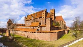 Castillo medieval en el malbork, Polonia Foto de archivo libre de regalías