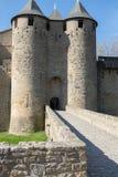 Castillo medieval en el sur de Francia Imagen de archivo libre de regalías