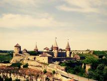 Castillo medieval en Kamianets-Podilskyi Imágenes de archivo libres de regalías