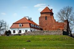 Castillo medieval en la ciudad de Liw Fotos de archivo