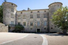Castillo medieval en la ciudad de Vogue, Francia fotos de archivo libres de regalías