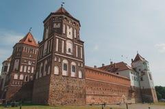 Castillo medieval en MIR, Bielorrusia fotografía de archivo libre de regalías
