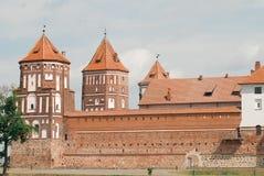 Castillo medieval en MIR, Bielorrusia fotografía de archivo
