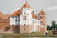 Castillo medieval en MIR, Bielorrusia imagenes de archivo