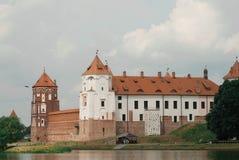 Castillo medieval en MIR, Bielorrusia fotos de archivo
