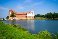 Castillo medieval en MIR, Bielorrusia Imágenes de archivo libres de regalías