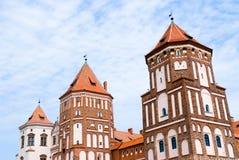 Castillo medieval en MIR, Bielorrusia Foto de archivo libre de regalías