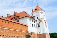 Castillo medieval en MIR, Bielorrusia Imagen de archivo libre de regalías