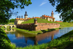 Castillo medieval en Nesvizh, Belarus. Fotos de archivo