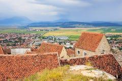 Castillo medieval en Rasnov Fotografía de archivo libre de regalías
