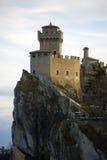 Castillo medieval en San Marino fotografía de archivo libre de regalías