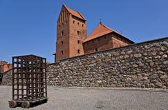 Castillo medieval en Trakai. Imagen de archivo libre de regalías