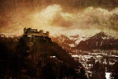 castillo medieval entonado Imágenes de archivo libres de regalías