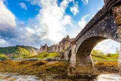 Castillo medieval escocés imagen de archivo libre de regalías