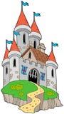 Castillo medieval espectacular en la colina Imágenes de archivo libres de regalías