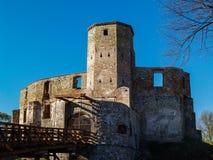 Castillo medieval gótico viejo en Siewierz, Polonia Imagen de archivo