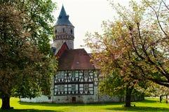 Castillo medieval Oelber en Alemania Foto de archivo