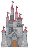 Castillo medieval y de la fantasía. Fotos de archivo libres de regalías