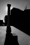 Castillo Metaphisic de la columna de BW Fotos de archivo libres de regalías