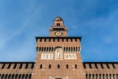 Castillo Milan Italy Monument Medieval Architecture Histori de Sforza Fotografía de archivo libre de regalías
