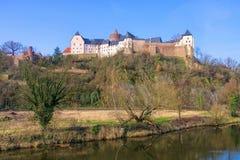 Castillo Mildenstein de Leisnig en Sajonia Fotos de archivo
